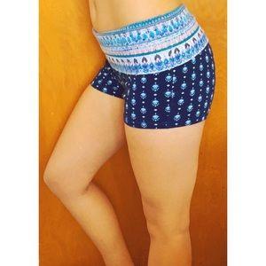 Boho Yoga Booty Shorts